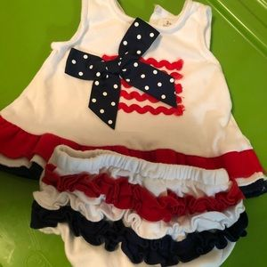 Patriotic 3 mos wbaby girl outfit
